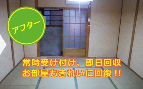 【アフター】常時受付、即日改修お部屋もきれいに回復!!